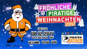 Weihnachtsfeier Piraten Hof/Wunsiedel am 08.12.2017 @ Galeriehaus Hof | Hof | Bayern | Deutschland