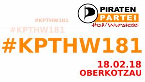 Kreisparteitag 18.1 der Piraten Hof/Wunsiedel @ Pizzeria Da Maria Oberkotzau | Oberkotzau | Bayern | Deutschland