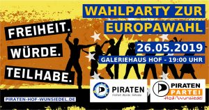 Wahlparty zur Europawahl 2019 @ Galeriehaus Hof | Hof | Bayern | Deutschland
